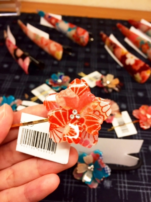 かわいい桜模様のヘアピン♪♪
