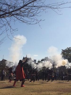 「ずどん!」と響く迫力の演武★高松城鉄砲隊演武披露