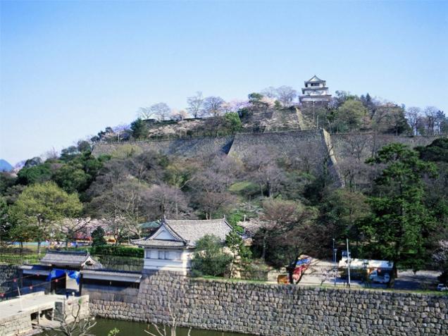 石垣の高さ日本一を誇る「丸亀城」
