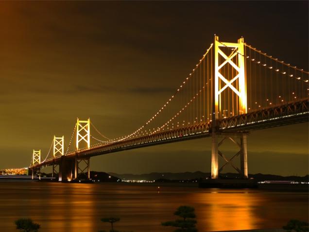 瀬戸大橋ライトアップ (点灯スケジュール)